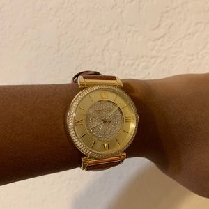 Michael Kors 'Catlin' Crystal Accent Watch, 38mm.